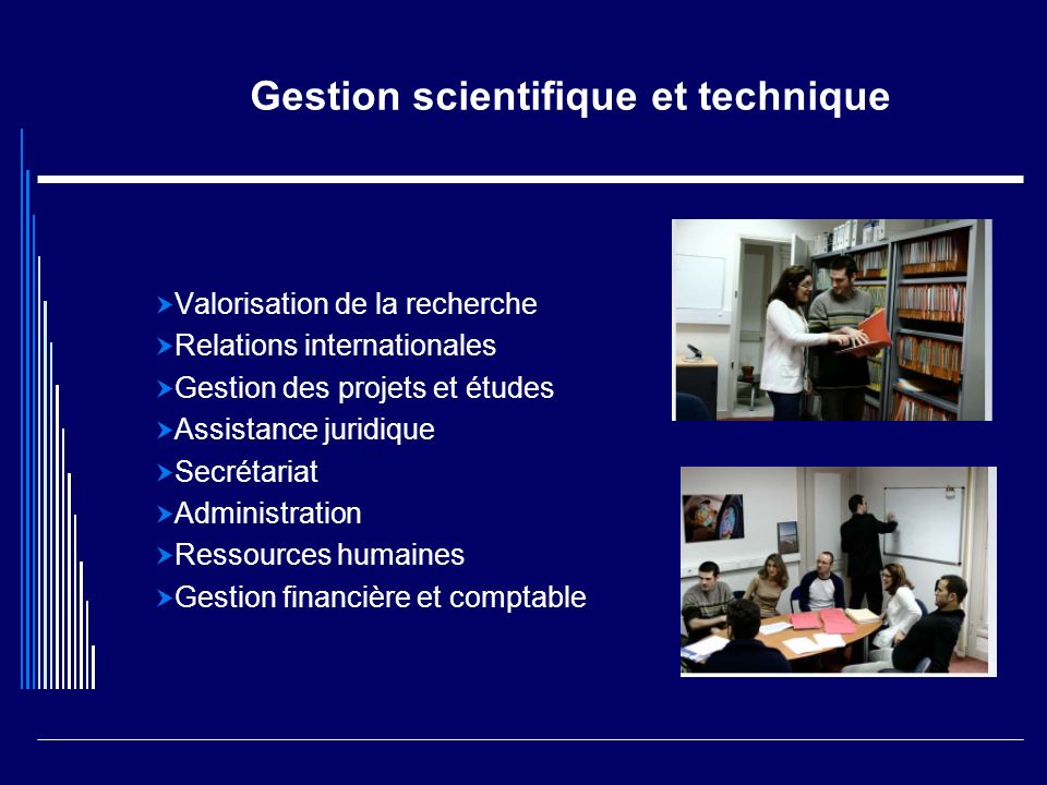 Gestion scientifique et technique