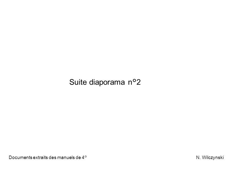 Suite diaporama n°2 Documents extraits des manuels de 4° N.