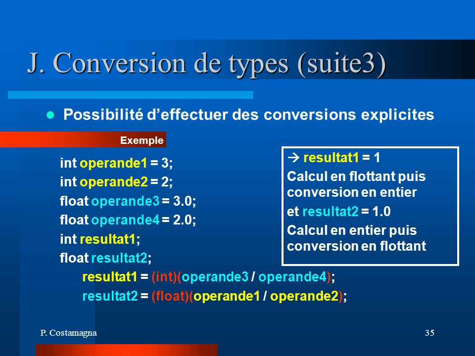 J. Conversion de types (suite3)