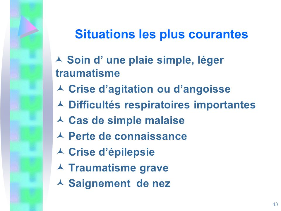 Situations les plus courantes