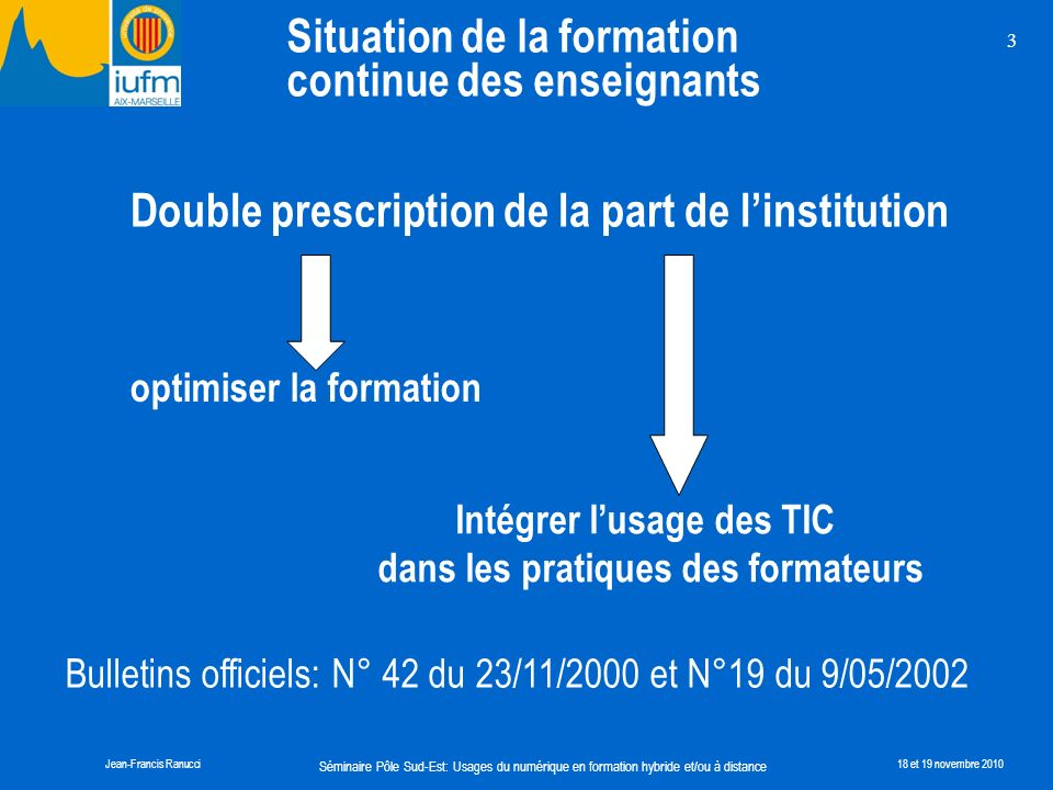 Double prescription de la part de l'institution