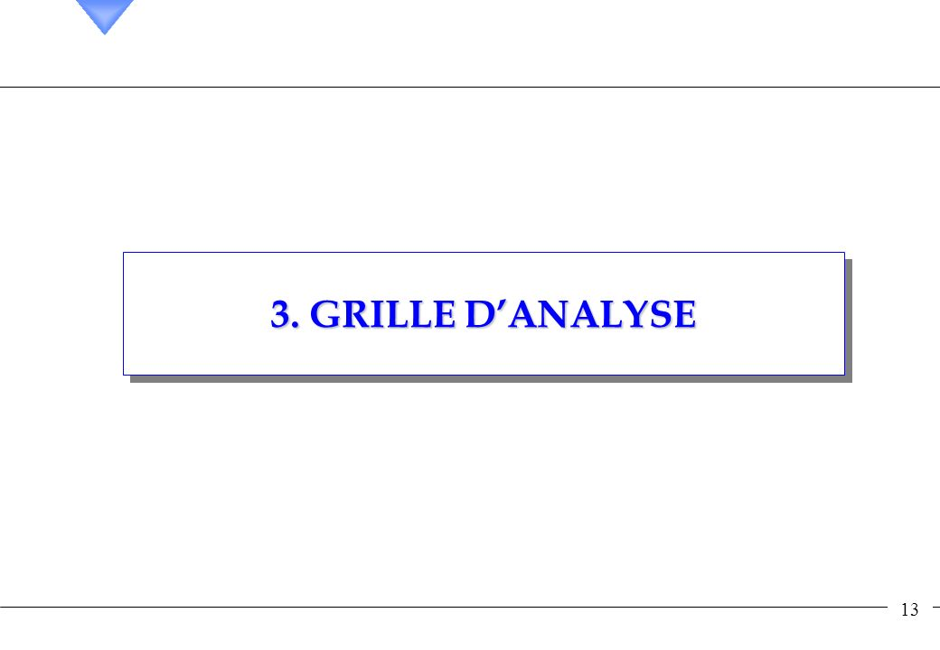 3. GRILLE D'ANALYSE