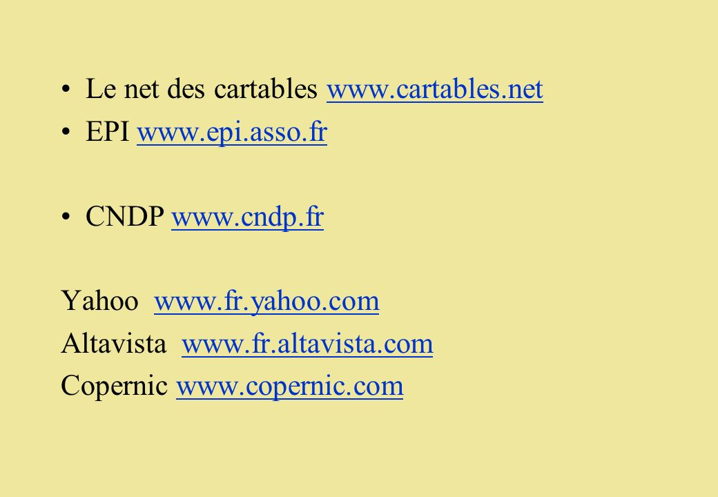 Le net des cartables