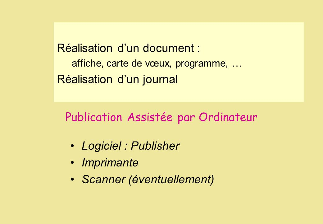 Publication Assistée par Ordinateur