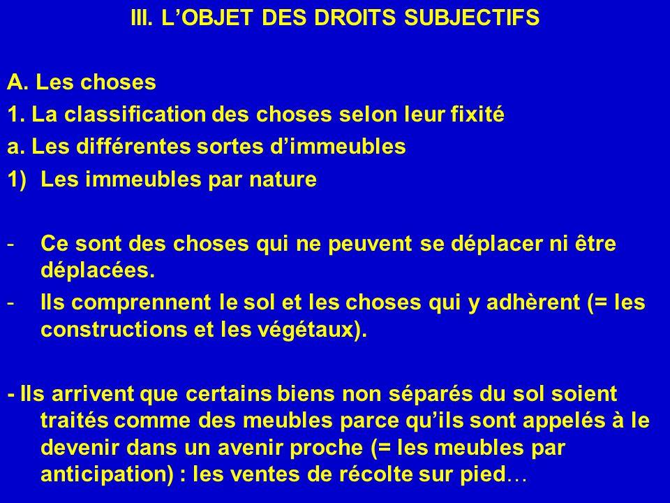 Iii L Objet Des Droits Subjectifs Ppt Telecharger