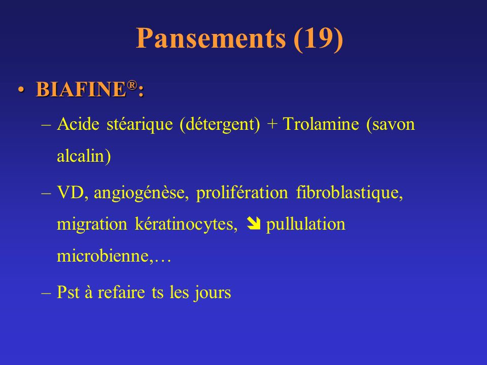 Pansements (19) BIAFINE®: