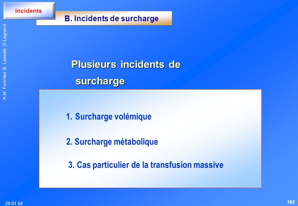 B. Incidents de surcharge