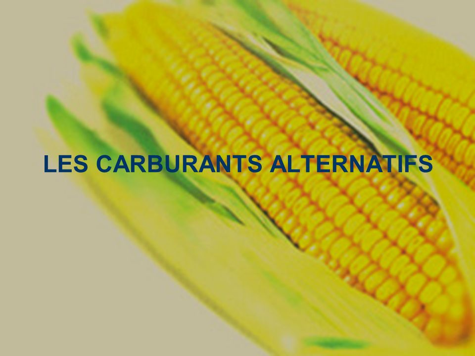 LES CARBURANTS ALTERNATIFS