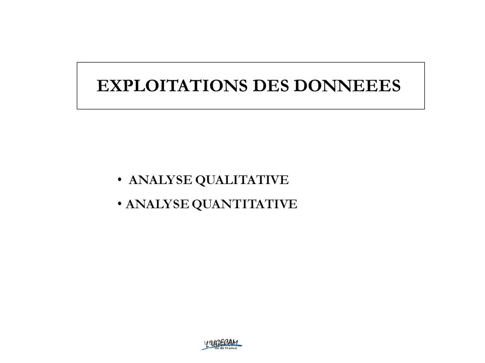 EXPLOITATIONS DES DONNEEES