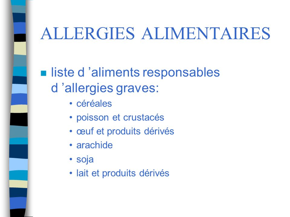 ALLERGIES ALIMENTAIRES
