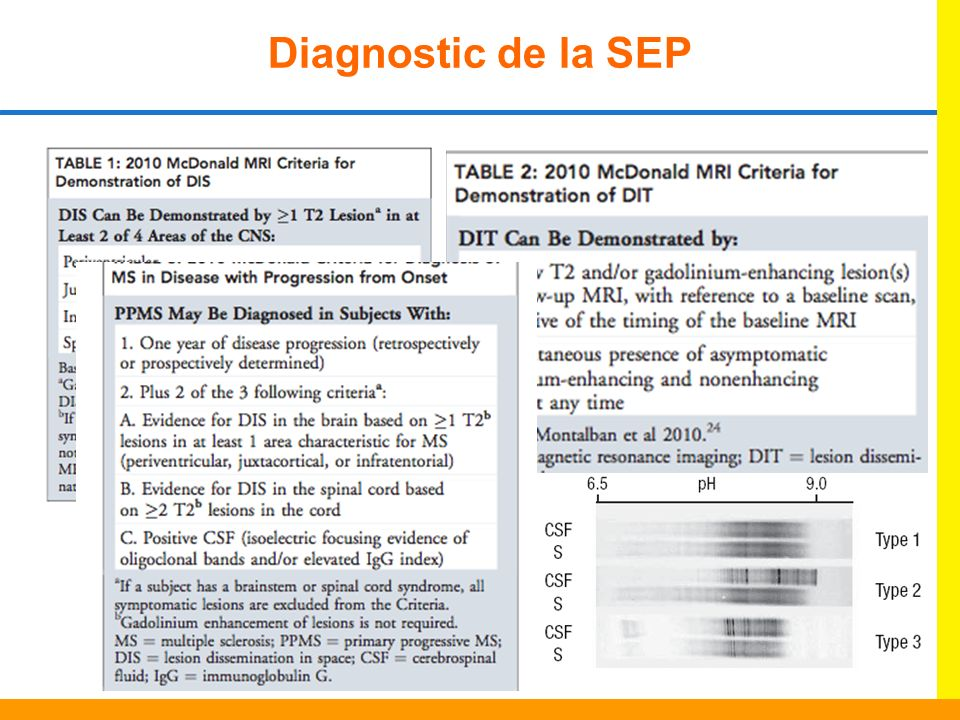 Diagnostic de la SEP