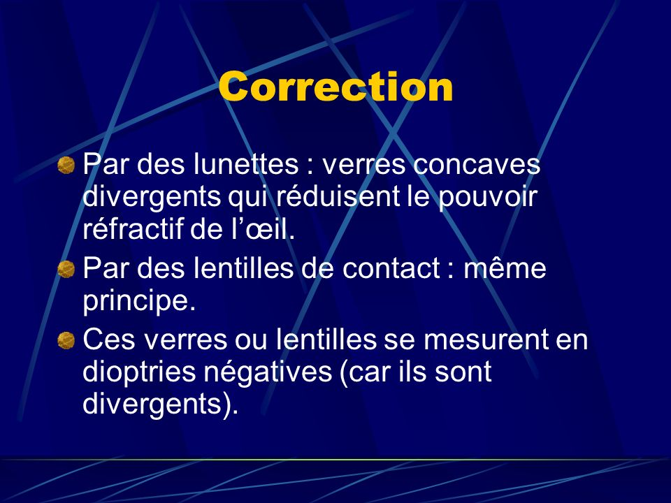 TROUBLES DE LA REFRACTION - ppt télécharger b26bba5750d3