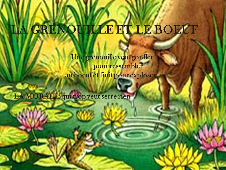 Jean de la fontaine je me sers d animaux pour instuire - Image la grenouille et le boeuf ...