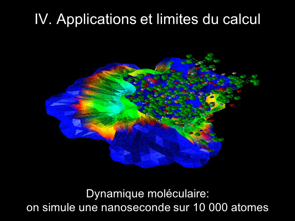 IV. Applications et limites du calcul