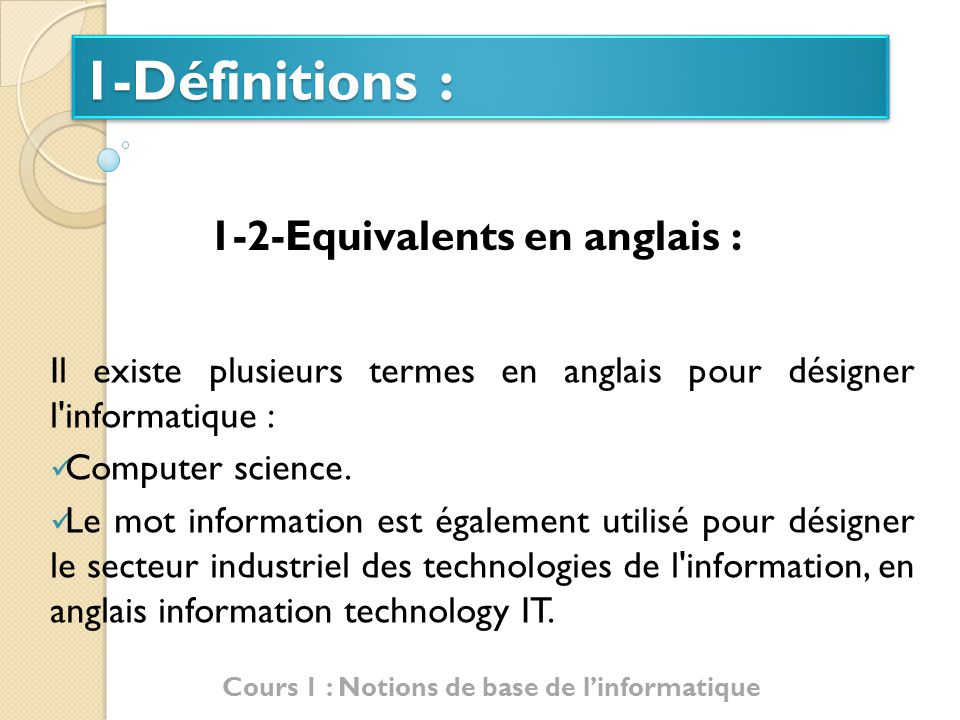 definition notion anglais