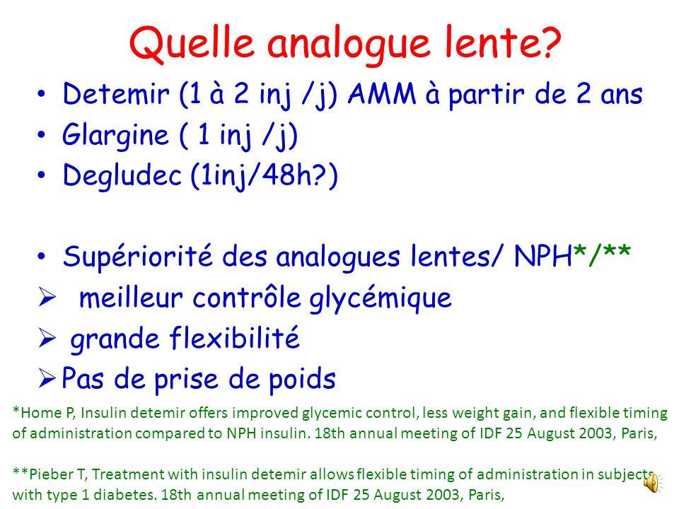 Quels choix de traitement insulinique pour un diabète de