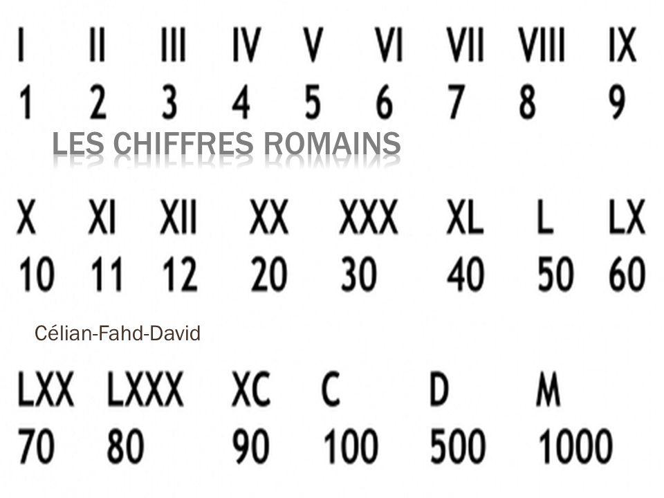 les chiffres romains c lian fahd david ppt video online. Black Bedroom Furniture Sets. Home Design Ideas