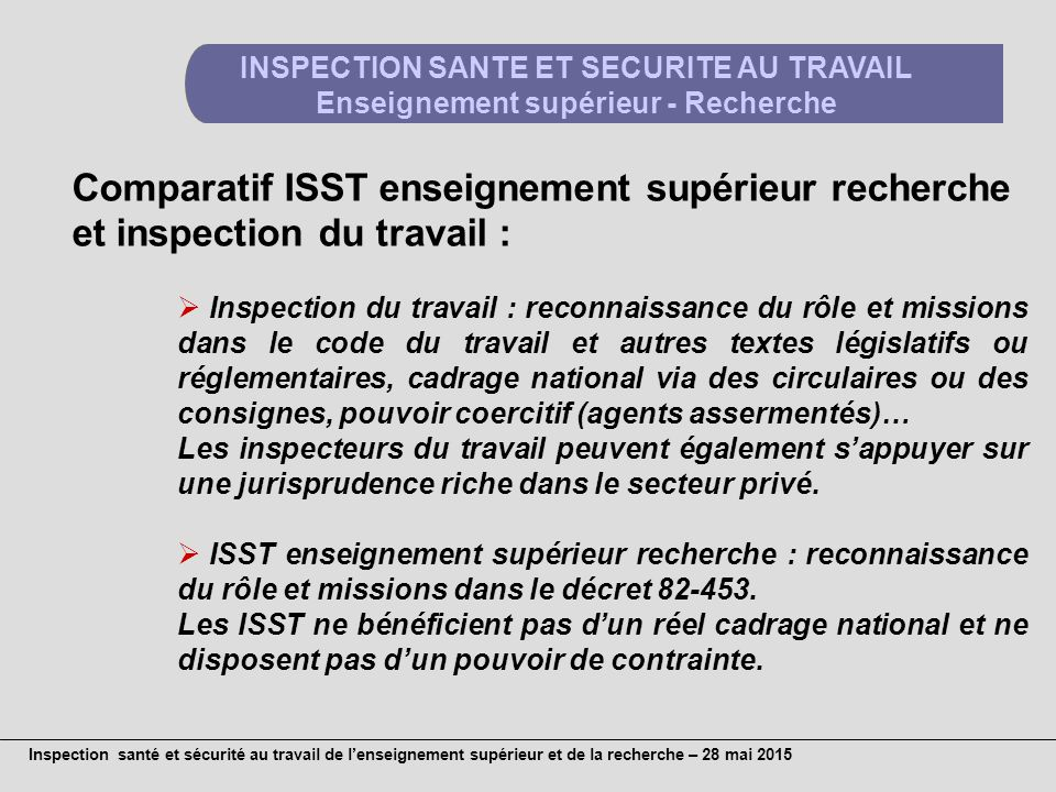 Inspection Du Travail Role
