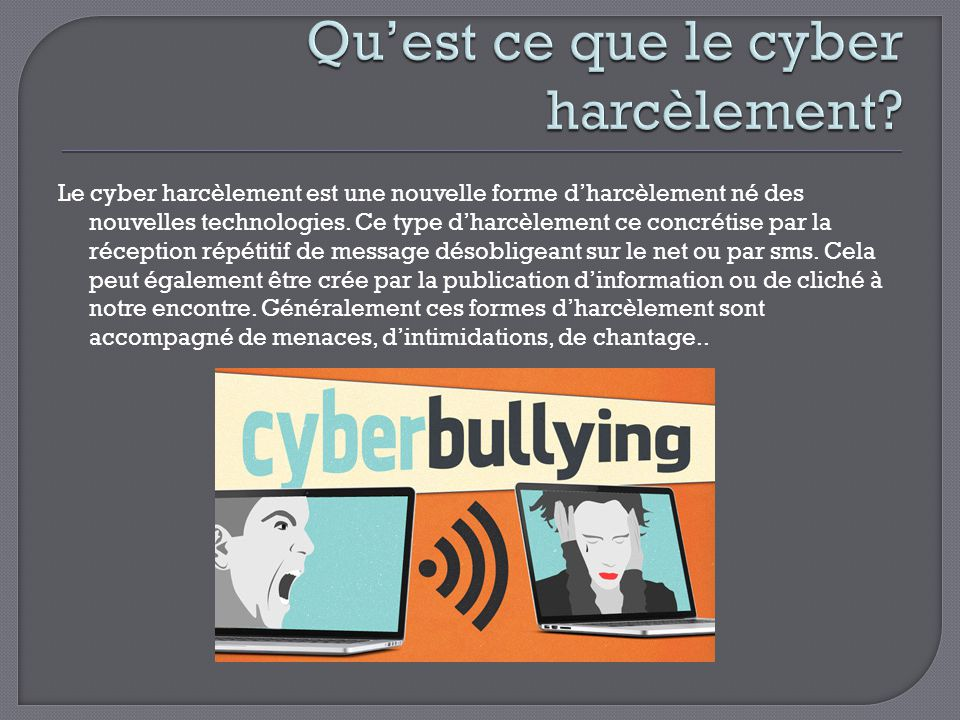 le cyberbullying ou cyberharc lement ppt video online t l charger. Black Bedroom Furniture Sets. Home Design Ideas