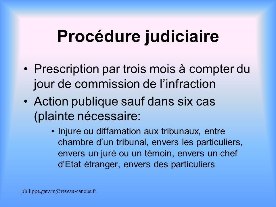 diffamation publique prescription