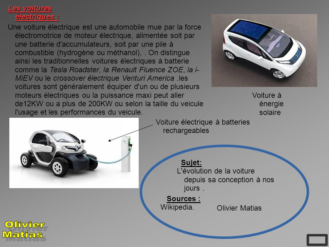 evolution de la voiture ppt t l charger. Black Bedroom Furniture Sets. Home Design Ideas