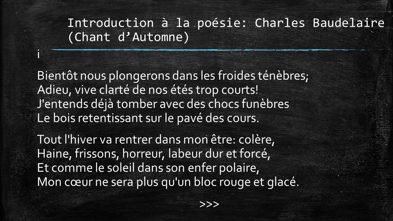 Introduction à La Poésie Ppt Télécharger