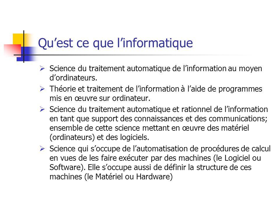 Introduction A L Informatique Ppt Telecharger