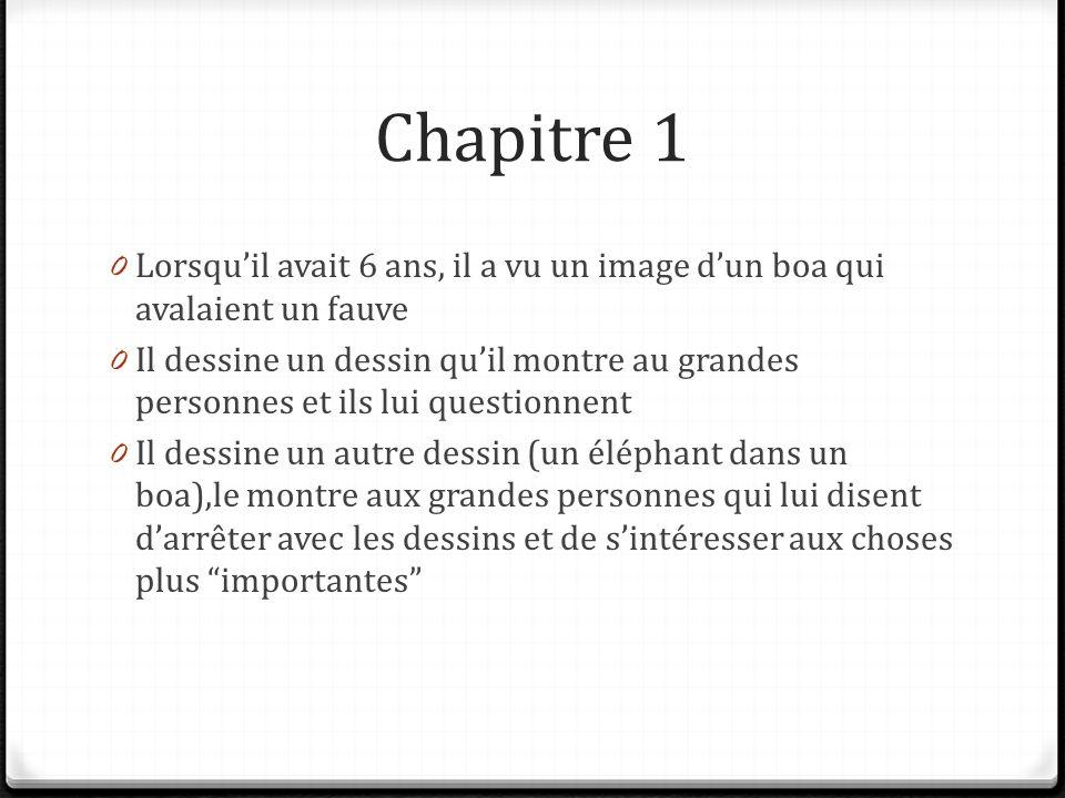 Resume Des Chapitres Le Petit Prince Ppt Video Online Telecharger
