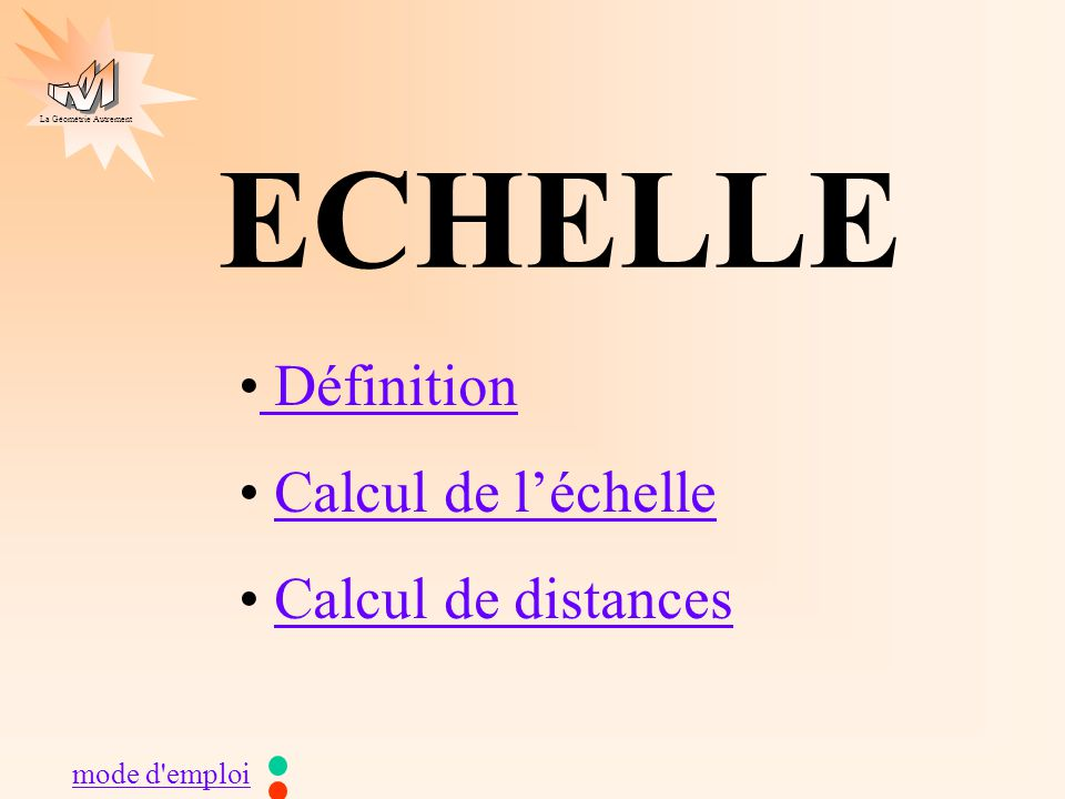echelle d finition calcul de l chelle calcul de distances ppt video online t l charger. Black Bedroom Furniture Sets. Home Design Ideas