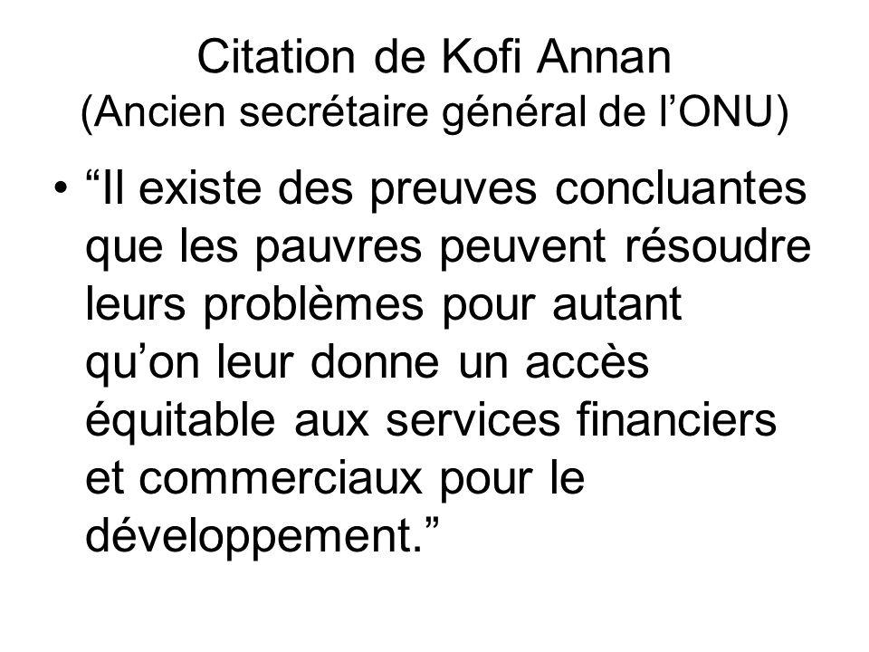 Citation De Kofi Annan Ancien Secrétaire Général De L Onu