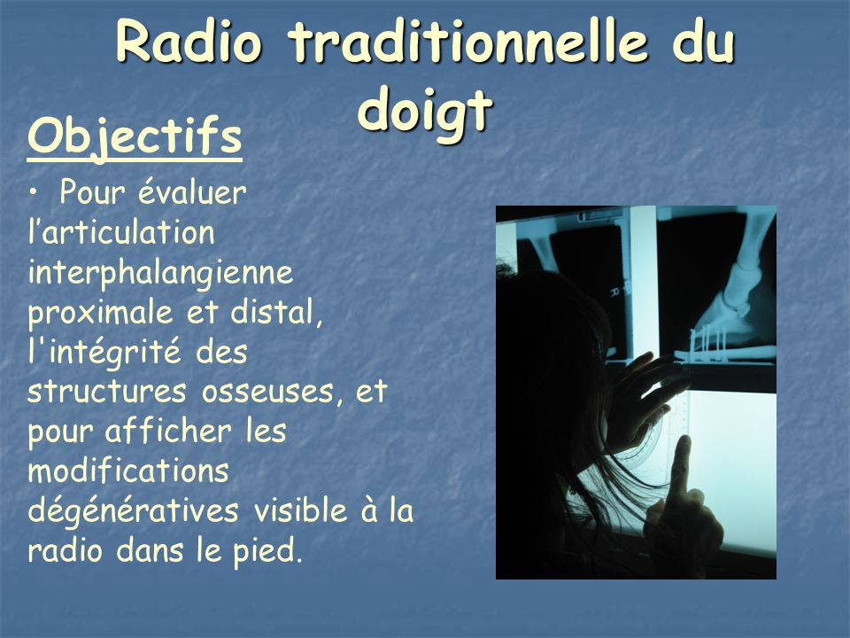 Radio traditionnelle du doigt
