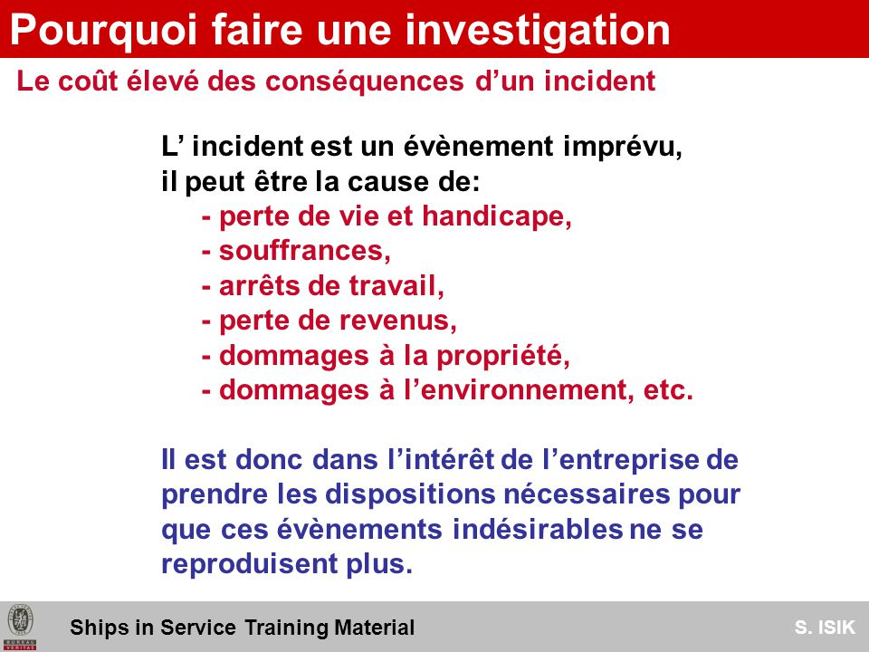 prendre information accident