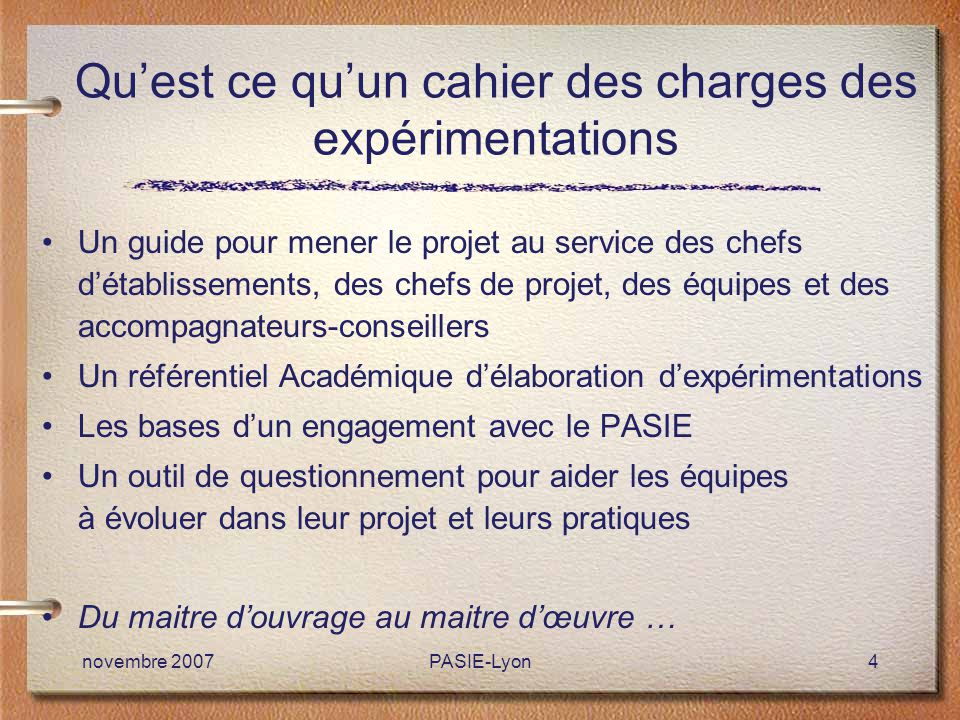 Cahier Des Charges Et Evaluation Ppt Telecharger