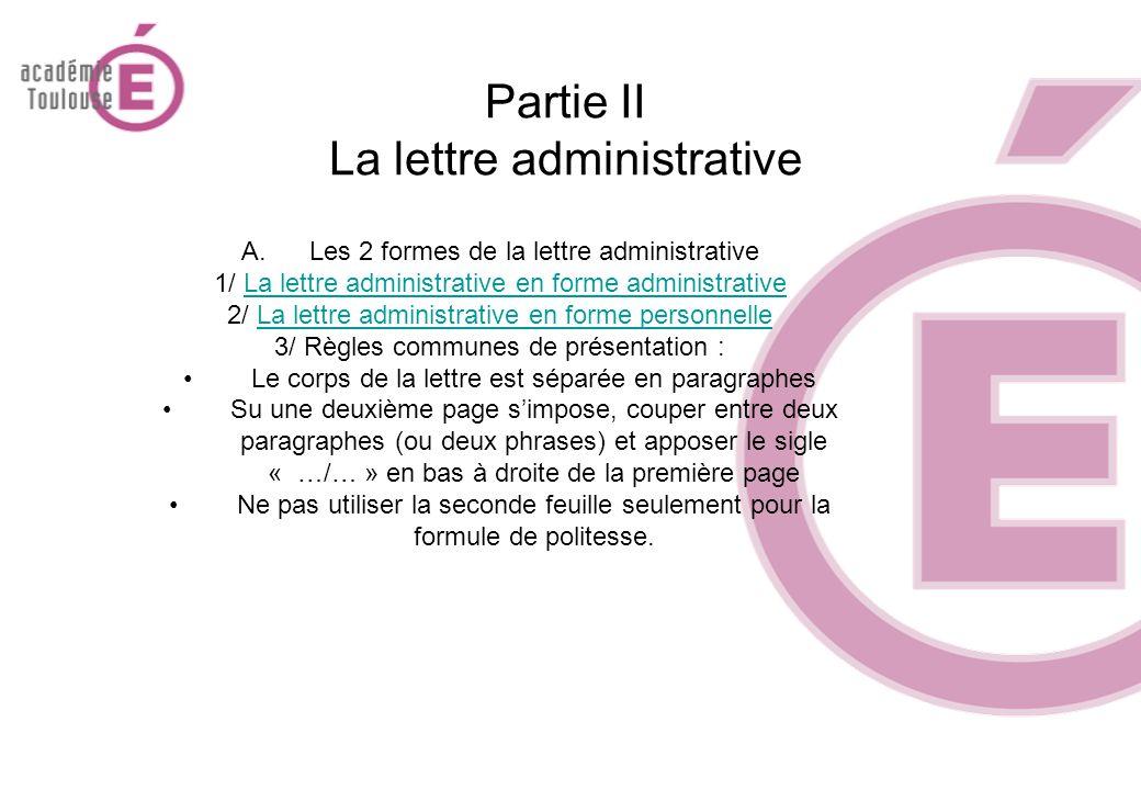 La Lettre Administrative Ppt Video Online Télécharger