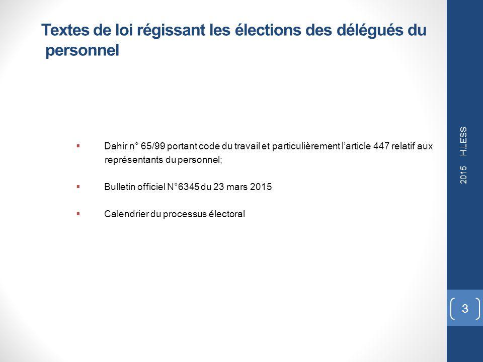 organisation élection délégués du personnel