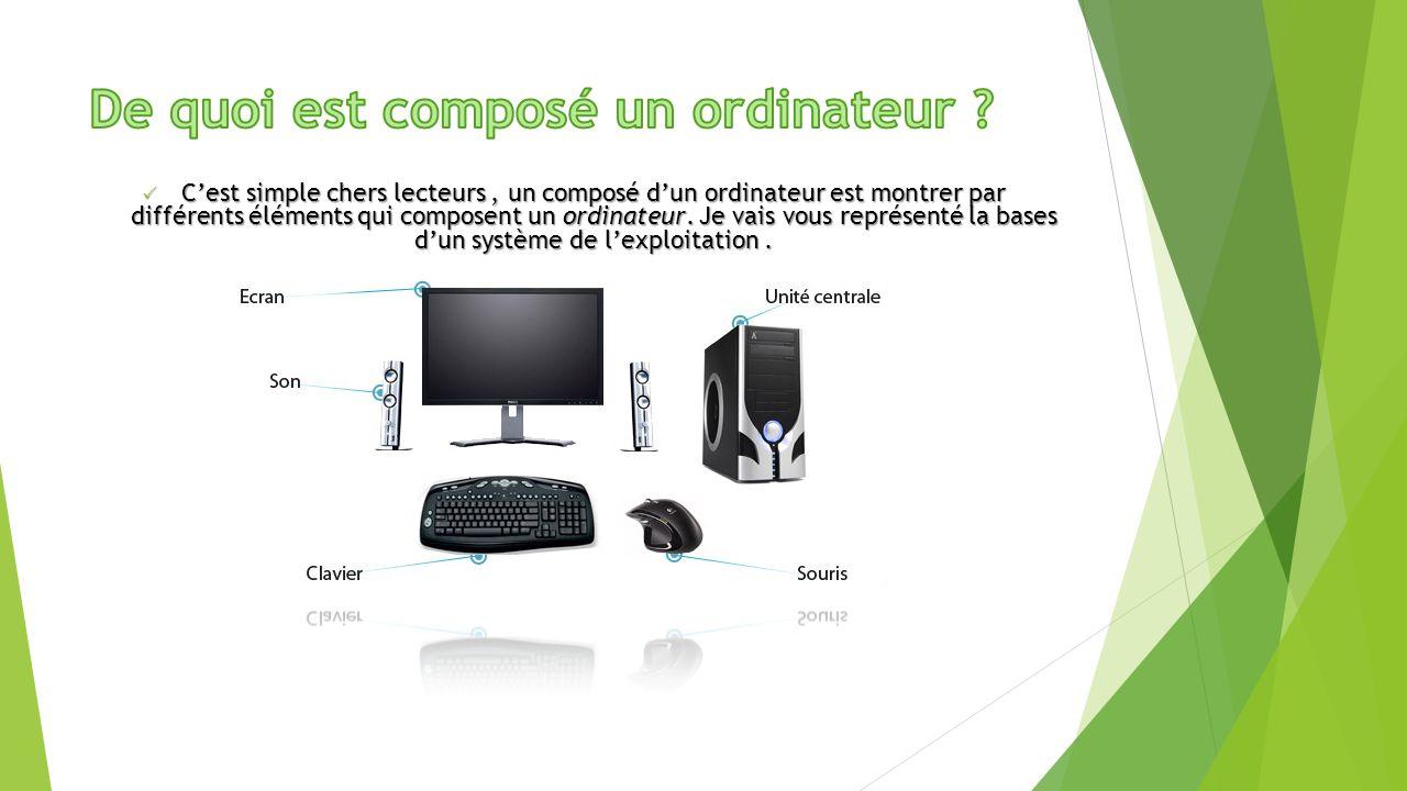 l ordinateur et ses composantes ppt video online t l charger. Black Bedroom Furniture Sets. Home Design Ideas