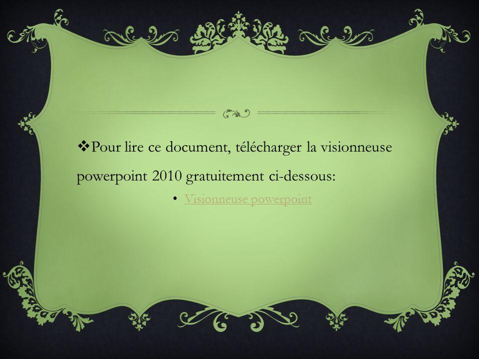 2009 POWERPOINT TÉLÉCHARGER GRATUITEMENT VISIONNEUSE