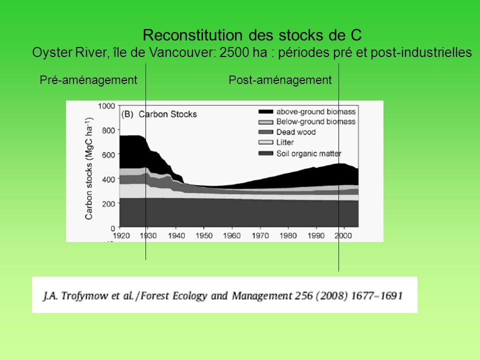 Reconstitution des stocks de C