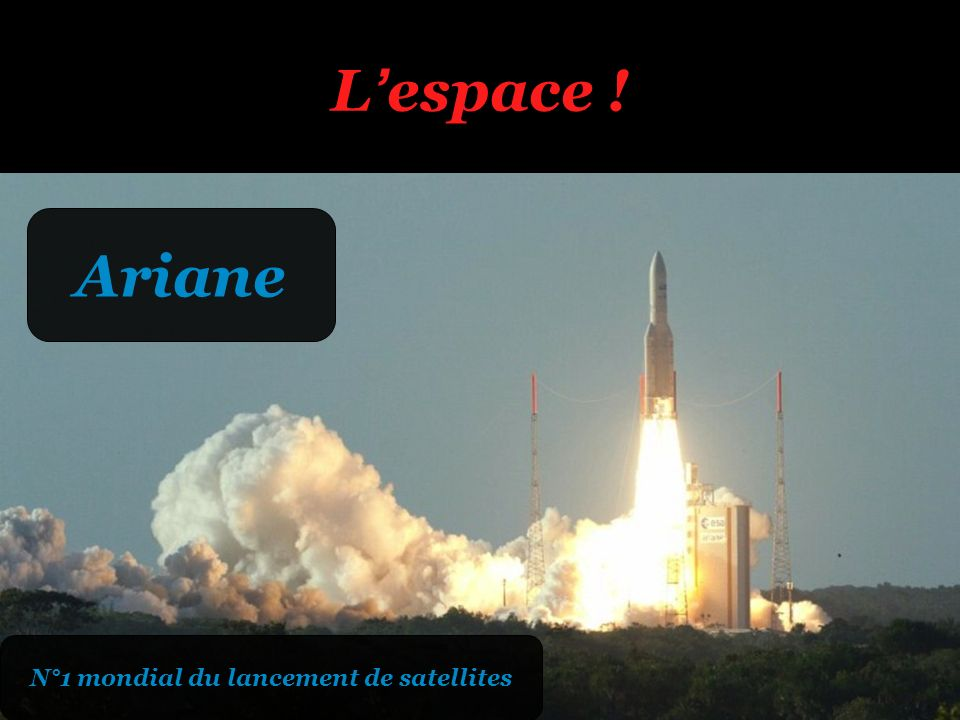 N°1 mondial du lancement de satellites
