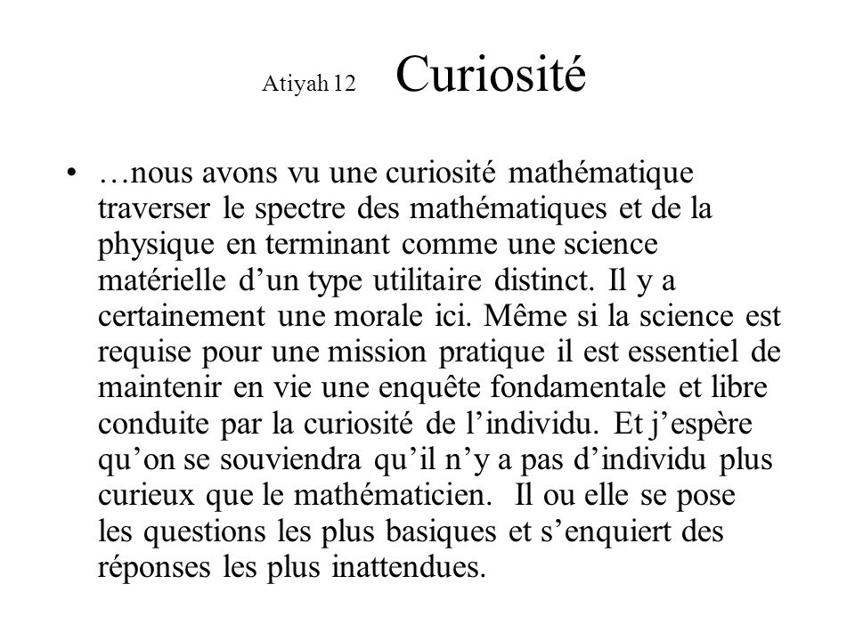 curiosite mathematique