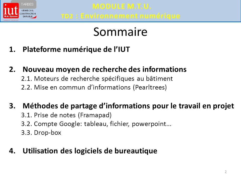 Td2 Environnement Numerique Ppt Video Online Telecharger