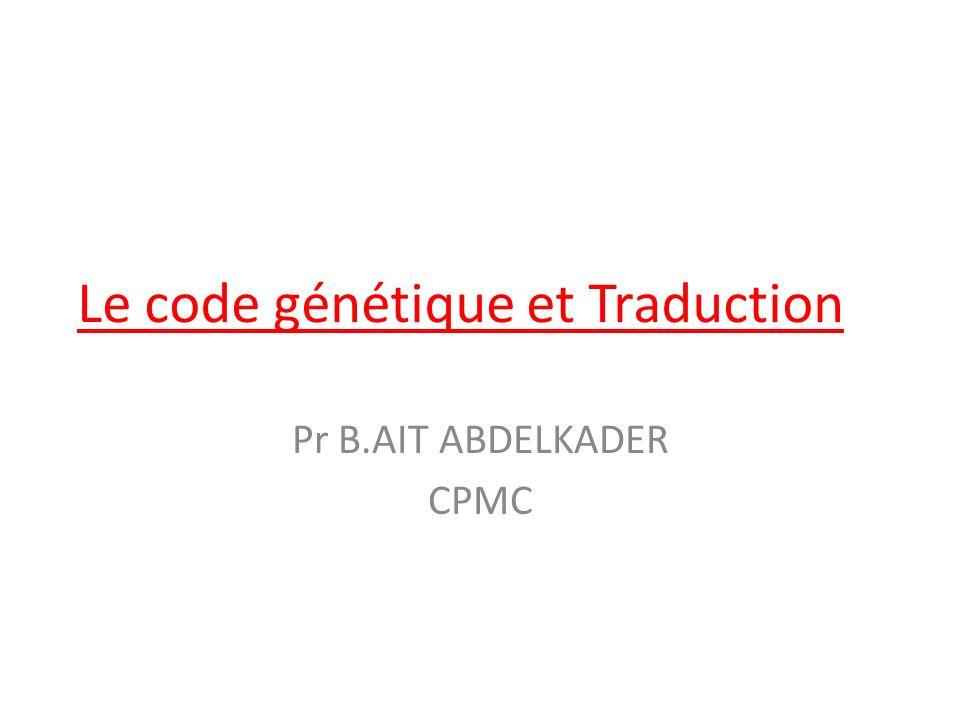 propriété code génétique