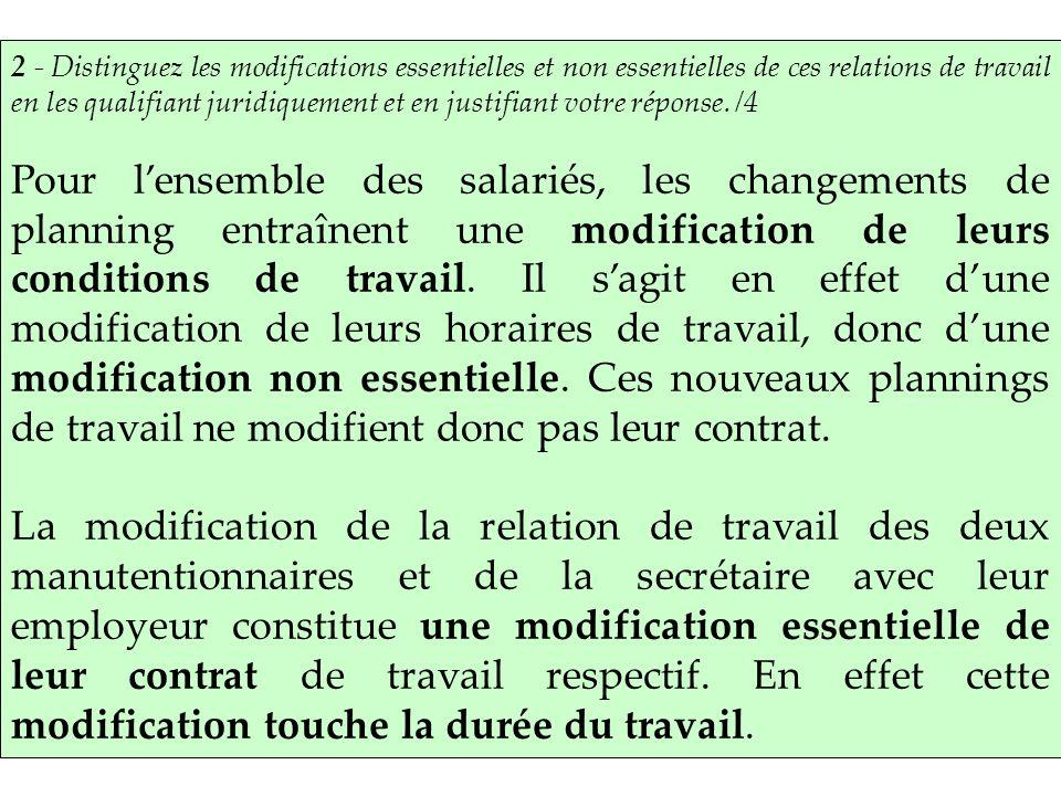 Modification Du Contrat De Travail Ppt Telecharger