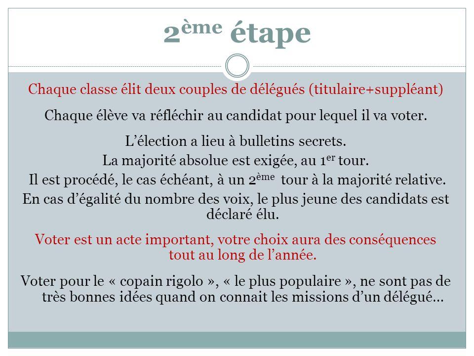 Election des d l gu s de classe ppt video online t l charger - Assesseur titulaire bureau de vote ...