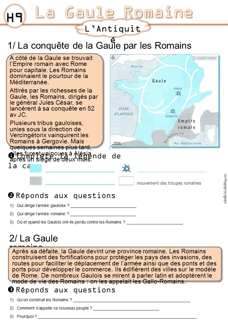 La Gaule Romaine H9 L'Antiquité