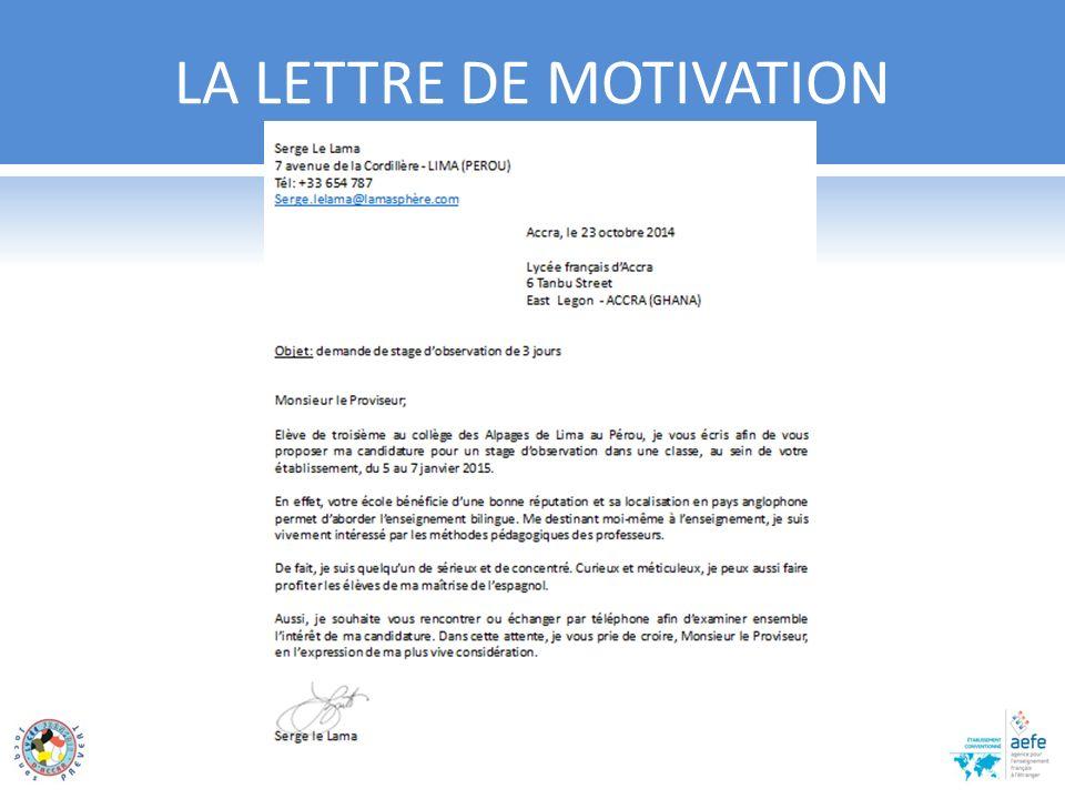 rechercher un stage rediger un cv et une lettre de motivation