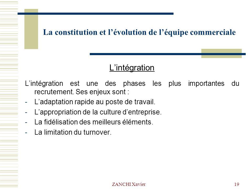 la constitution et l u2019 u00e9volution de l u2019 u00e9quipe commerciale