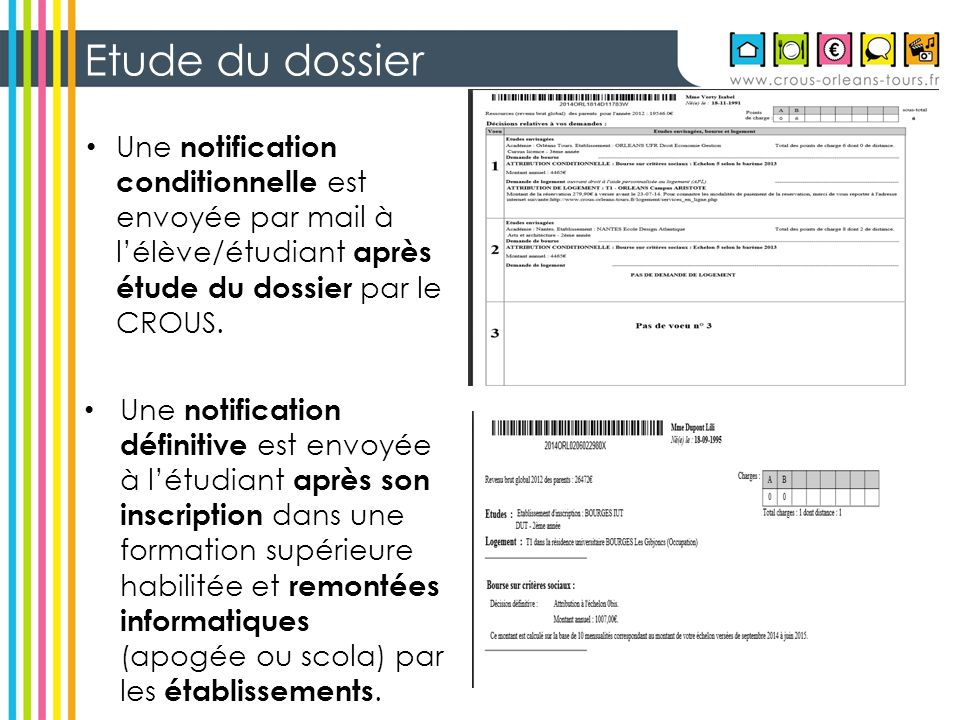 notification conditionnelle de bourse