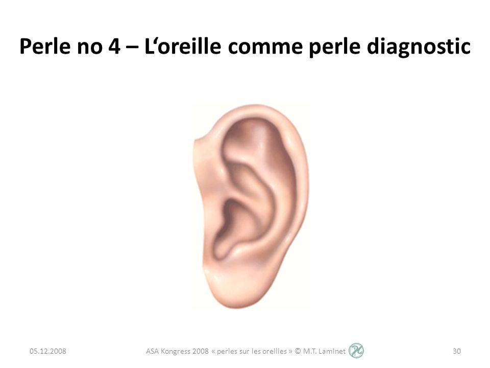Perle no 4 – L'oreille comme perle diagnostic