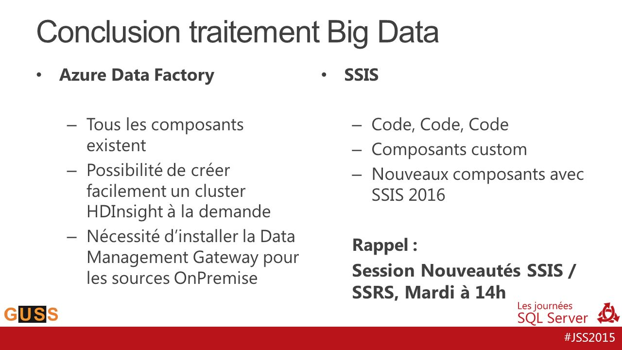 Conclusion traitement Big Data